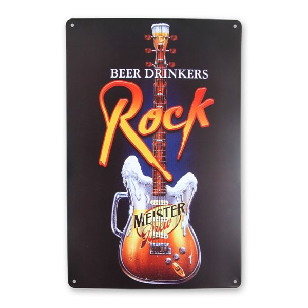 Placa Metal Beer Drinkers