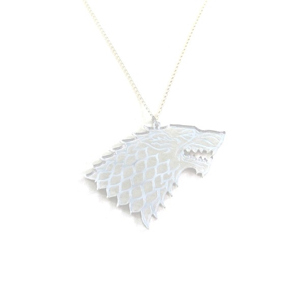 Wolf Necklace Mirrored