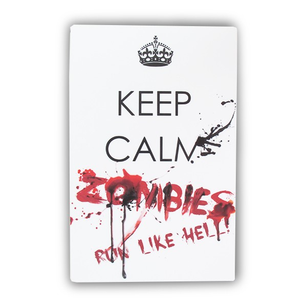 Placa Keep Calm Zombie Run
