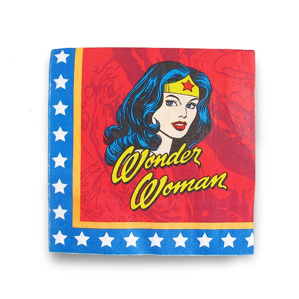 Paper Napkins Wonder Woman Faces