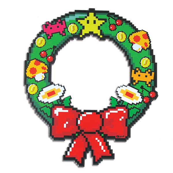 Pixel Christmas wreath
