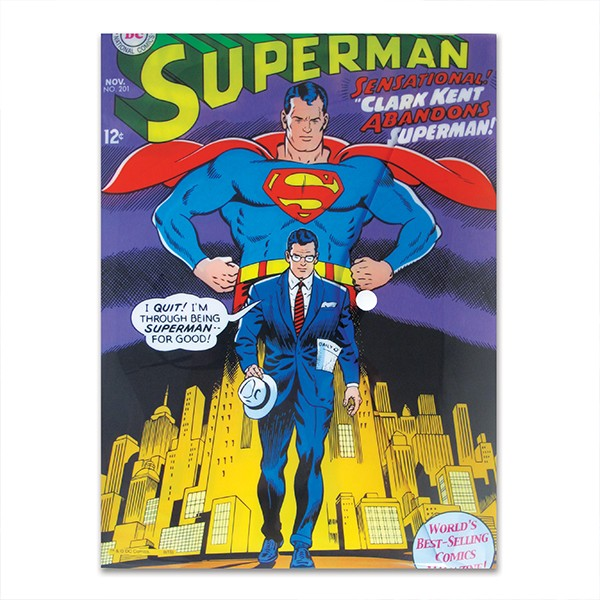 Folder envelope Superman and Clark Kent