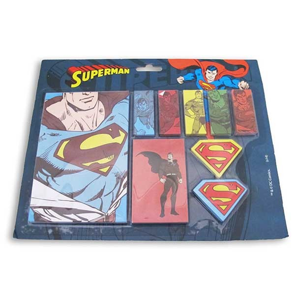 Notepad with Superman Stickers