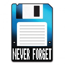 Adesivo Never Forget Diskette