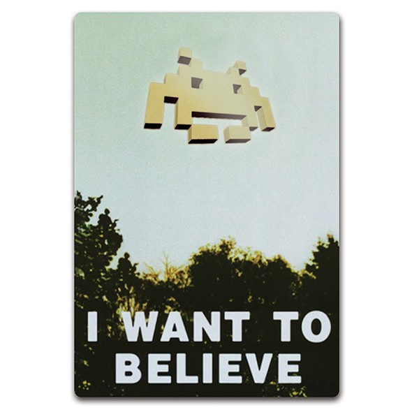 Adesivo I want to believe
