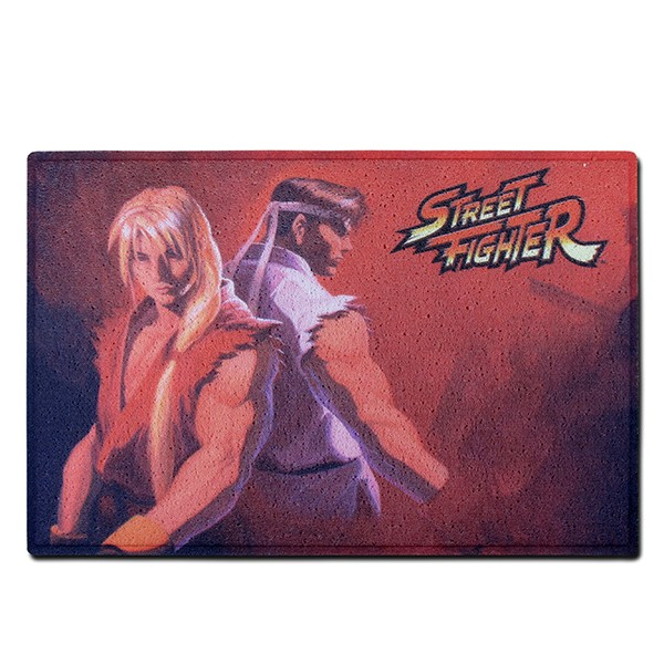 Doormat Ken and Ryu Red