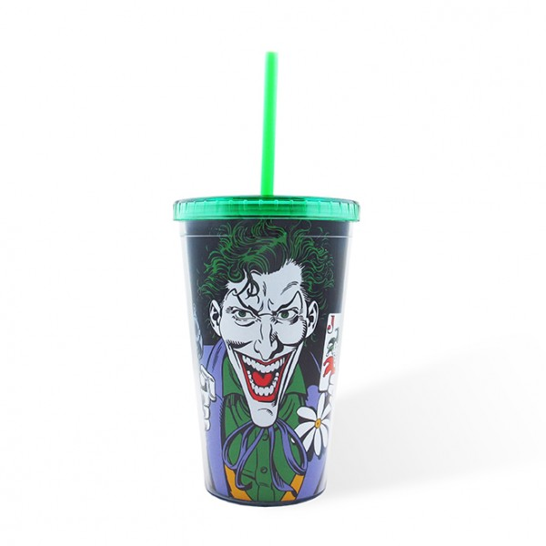 Plastic Cup with Cover Joker