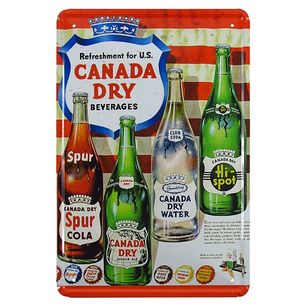 Metal Canada Dry Plate