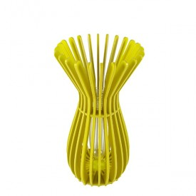 3D Yellow Vase Canister