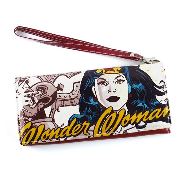 Wallet with handle Wonder Woman Vintage Face